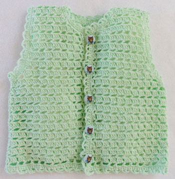 Crochet Emmygrande Lame baby knit vest