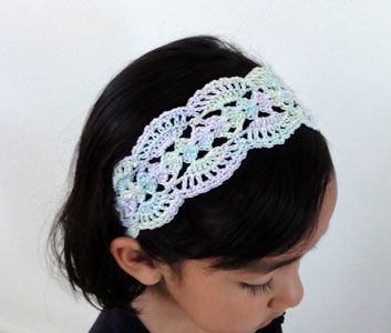 EmmyGrande Mixed crochet hairband